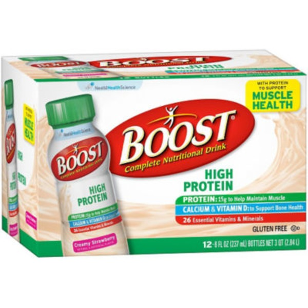 Boost High Protein Creamy Strawberry Complete Nutritional Drink
