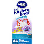 Great Value Tall Kitchen Trash Bags