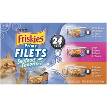 Friskies Wet Prime Filets Seafood Favorites Cat Food