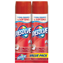 Resolve High Traffic Foam Large Area Carpet Cleaner (Pack of 2)