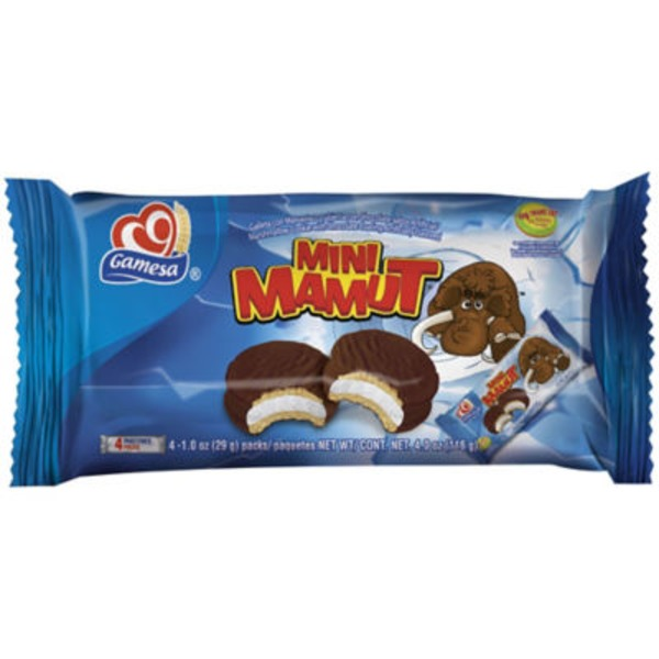 Gamesa Mini Mamut Marshmallow Cookies With Chocolate Coating