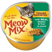 Meow Mix Market Select W/Real Chicken & Liver In Gravy Wet Cat Food
