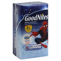 GoodNites Spider-Man Boy's Small/Medium Bedtime Underwear