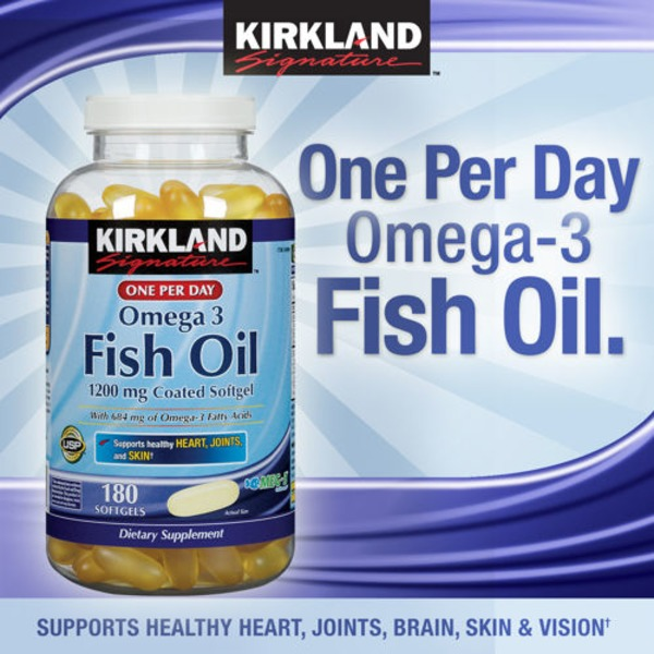 Kirkland Signature Enteric Coated Fish Oil Softgels