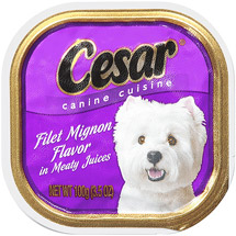 Cesar Filet Mignon Flavor In Meaty Juices Canine Cuisine