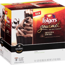 Folgers Gourmet Selections Mocha Swirl Coffee K-Cup Packs