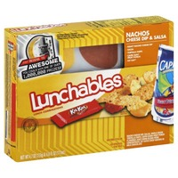 Oscar Mayer Lunchables Nachos with Cheese Dip and Salsa 4.7 oz Tray