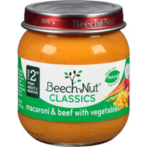 Beech Nut Macaroni & Beef With Vegetables Stage 2 Baby Food
