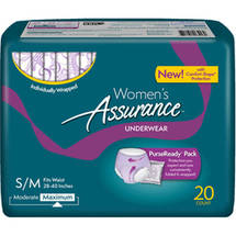 Assurance for Women Maximum Absorbency Protective Underwear Small/Medium