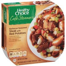 Healthy Choice Cafe Steamers Barbecue Seasoned Steak with Red Potatoes