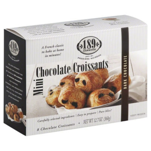 189 Harwood Croissants, Mini, Dark Chocolate