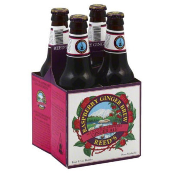 Reed's Inc. Raspberry Ginger Brew All Natural Raspberry Ginger Ale