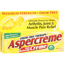 Aspercreme Odor Free Therapy Pain Relieving Cream With Aloe
