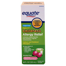 Equate Children's Allergy Relief Bubble Gum Flavor Liquid