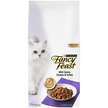 Fancy Feast Dry Cat Food with Savory Chicken and Turkey