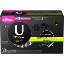 U by Kotex Click Regular & Super Unscented Tampons Plastic Applicator