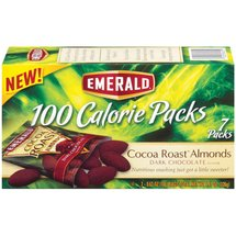 Emerald Dark Chocolate Cocoa Roast Almonds 100 Calorie Packs