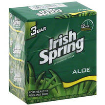 Irish Spring Aloe Deodorant Soap 12 oz