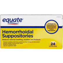 Equate Hemorrhoidal Suppositories
