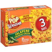 Pop Weaver Jalapeno Cheddar Cheese Microwave Popcorn