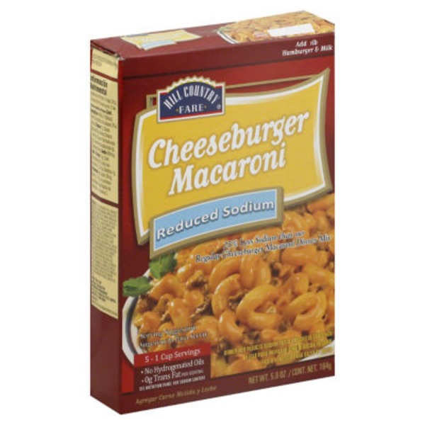 Hill Country Farm Reduced Sodium Cheeseburger Macaroni Dinner Mix