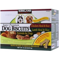 Kirkland Signature Chicken Meal, Rice Lamb Meal, Rice Dog Biscuits