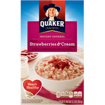 Quaker Strawberries & Cream Instant Oatmeal 10 Ct/12.3 Oz