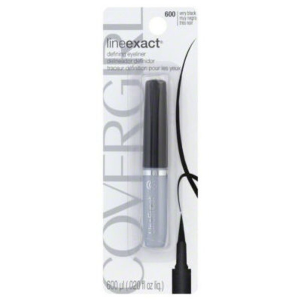 CoverGirl Line Exact COVERGIRL LineExact Liquid Eyeliner Very Black 600, 0.02 Oz Female Cosmetics