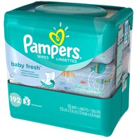 Pampers Baby Fresh Pampers Baby Wipes Baby Fresh 3X 192 count  Baby Wipes