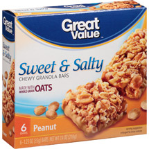 Great Value Sweet & Salty Peanuts Granola Bar