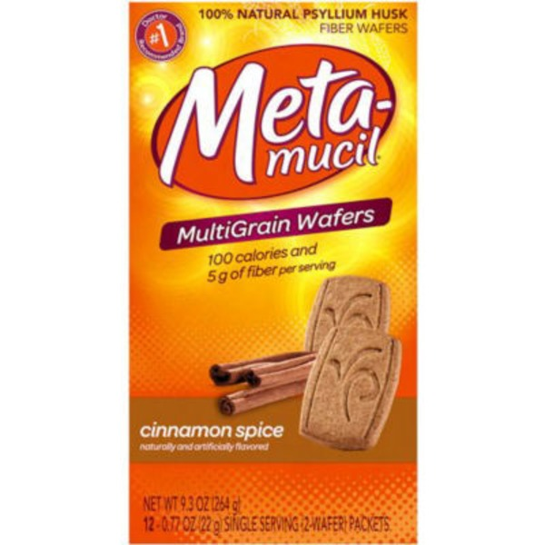 Meta Biotic Meta Multi-grain Fiber Wafers Cinnamon Spice 24 ct Laxative