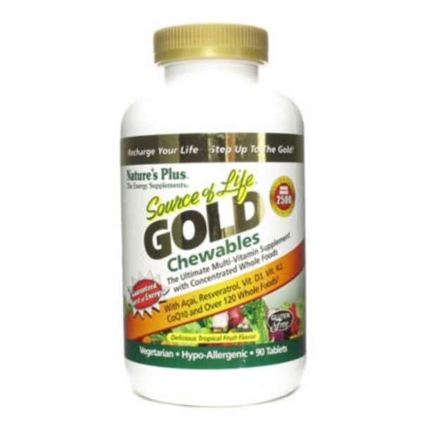 Nature's Plus Source Of Life Gold Chewables Delicious Tropical Fruit Flavor Tablets