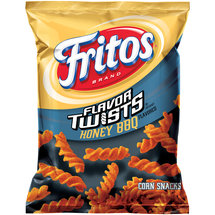 Fritos Flavor Twists Honey BBQ Flavored Corn Snacks