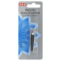 H-E-B Deluxe Nail Clipper With Fold Out File