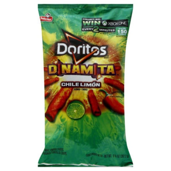 Doritos Chips Dinamita Chile Limón Flavored Rolled Tortilla Chips