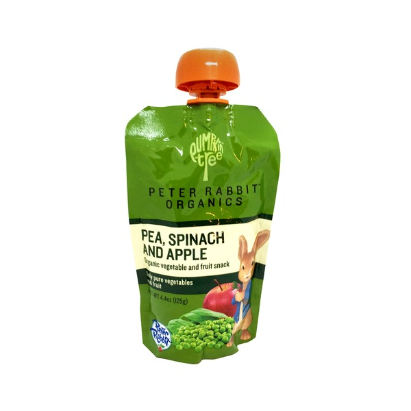 Pumpkin Tree Peter Rabbit Organic Pea Spinach & Apple Puree Snack