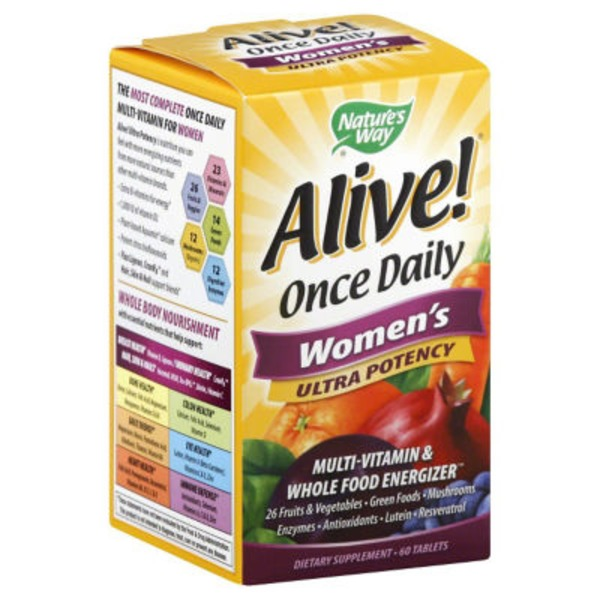Nature's Way Alive! Once Daily Women's Ultra Potency Multi-Vitamin - 60 CT