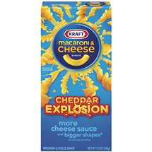 Kraft Dinners Cheddar Explosion Macaroni & Cheese Dinner