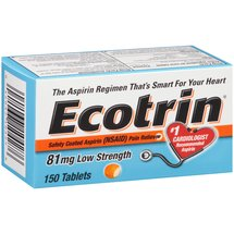 Ecotrin Low Strength Safety Coated Aspirin Pain Reliever Tablets