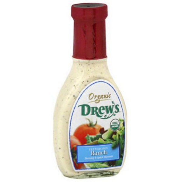 Drew's Organic Dressing & Quick Marinade Peppercorn Ranch