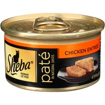 Sheba Cat Food Premium Pate in Natural Juices Chicken Entree