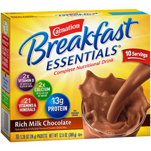 Carnation Instant Breakfast Rich Milk Chocolate Powder Complete Nutritional Drink