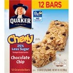Quaker Chewy 25% Less Sugar Chocolate Chip Granola Bars