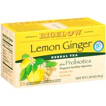 Bigelow Lemon Ginger Plus Probiotics Herbal Tea Bags