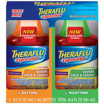 Theraflu ExpressMax Daytime/Nighttime Severe Cold & Cough Berry Flavor Syrup