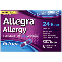 Allegra Allergy 24 Hour Non-Drowsy Antihistamine Gelcaps