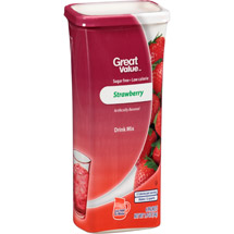Great Value Strawberry Drink Mix
