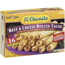 El Charrito Beef & Cheese Rolled Tacos