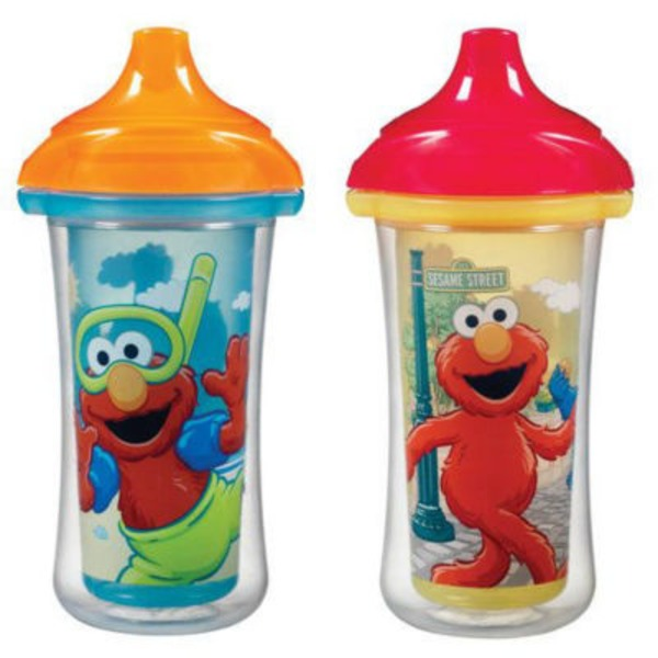 Munchkin 2pk Sesame Street Click Lock Insulated Sippy