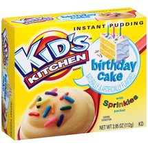 Kid's Kitchen Birthday Cake Instant Pudding with Sprinkles Packet